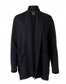 Navy French Terry Open Cardigan