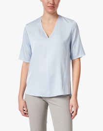 BOSS Hugo Boss - Ivala Light Blue Silk Top