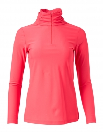 Ashley Coral Zip Up Top