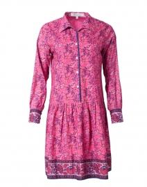 Pink Floral Cotton Shirt Dress