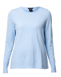 Ice Blue Top with Button Cuff Detail