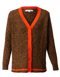 Dalloway Love Brown Merino Wool Cardigan