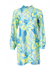 Palms of Paradise Print Crepe Dress