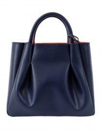 Midi Ruched Navy Tote