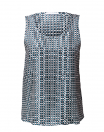 BOSS Hugo Boss - Inolea Geometric Print Silk Shell