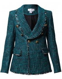 Teal and Black Tweed Jacket