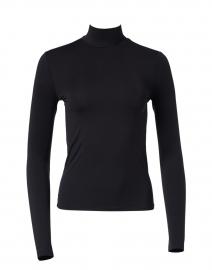 Black Stretch Jersey Top
