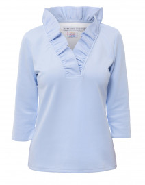 Periwinkle Ruffle Neck Top