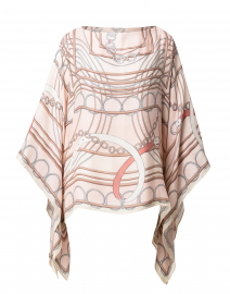 Venezia Pale Pink Cashmere Silk Poncho