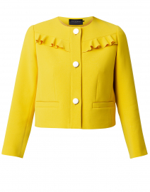 Vila Yellow Jacket with Front Ruffle