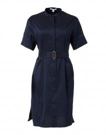 Dashila Navy Cotton Shirt Dress