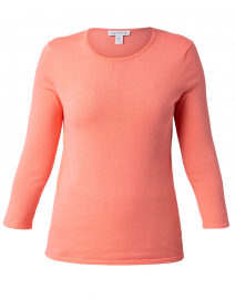 Living Coral Crew Neck Cotton Sweater