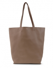Maiko Taupe Leather Tote Bag