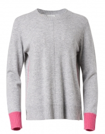 Sterling Grey and Berry Pink Cashmere Sweater