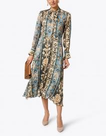 Caliban - Multi Printed Satin Dress