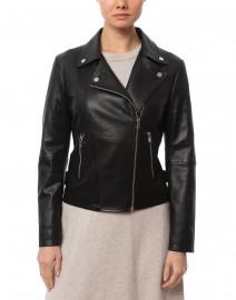 Emporio Armani - Black Zip Up Leather Jacket