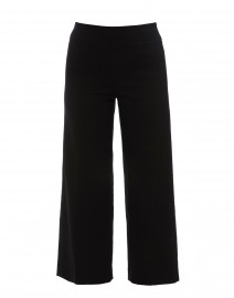 Black Cropped Wide Leg Techno Stretch Pant
