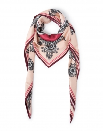 Miranda Champagne and Red Venetian Silk Scarf