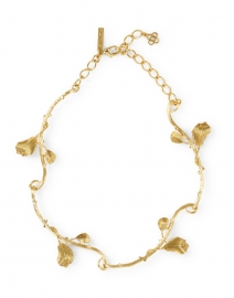Gold Vine and Branch Necklace
