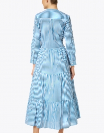 Oliphant - Playa Blue Stripe Cotton Voile Dress