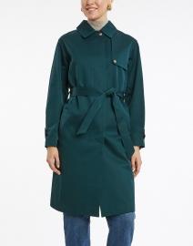 Tara Jarmon - Forest Green Snap Front Raincoat