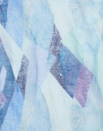 Leggiadro - Turquoise and Purple Kaleidoscope Print Modal and Linen Scarf