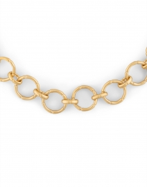 Dean Davidson - Gold and Moonstone Bamboo Link Chain Necklace
