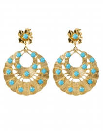 Sarina Gold and Turquoise Drop Earrings