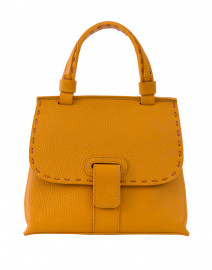 Lucque - Orleans Mini Yellow Pebbled Leather Handbag