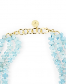 Nest - Aquamarine Bead Multi Strand Necklace