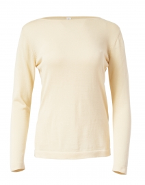 Light Beige Pima Cotton Boatneck Sweater
