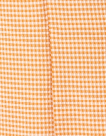 Harris Wharf London - Clementine and White Gingham Seersucker Dress