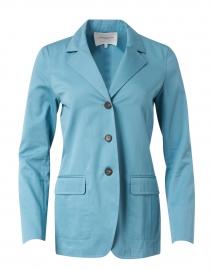 Rogers Light Blue Cotton Cashmere Blazer
