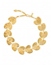 Satin Gold Leaf Necklace