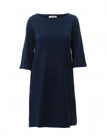 Isabel Navy Bamboo Cotton Swing Dress