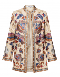 Elsa Beige Embroidered Linen Jacket