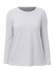 Snapped Heather Grey Cotton Top