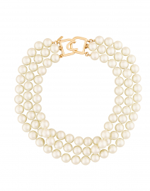 Pearl Triple Strand Necklace