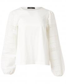 Giotto White Embroidered Cotton Top