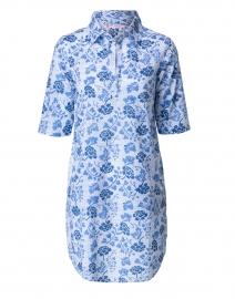 Bobby Blue Floral Cotton Shirt Dress