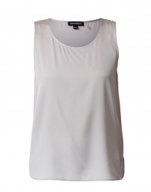 Light Grey Silk Stretch Tank