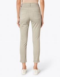 Cambio - Piper Dusty Olive Stretch Sateen Pant