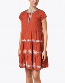 Roller Rabbit - Pamela Ginger Spice Embroidered Cotton Dress