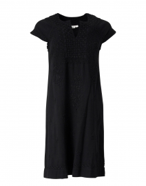 Faith Black Embroidered Cotton Dress