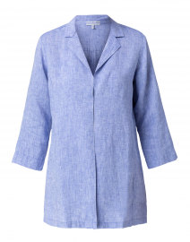 Haley Indigo Linen Long Jacket