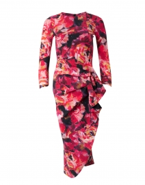 Wang Palette of Roses Stretch Jersey Dress