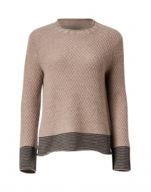Honeycomb Hazelnut Cashmere Sweater