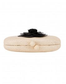 SERPUI - Olive Camelia Sand with Black Buntal Minaudiere