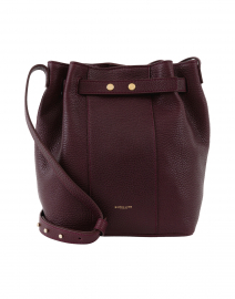 Naples Burgundy Leather Bucket Bag