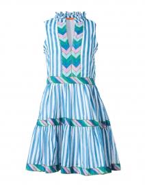 Playa Blue and White Stripe Cotton Poplin Dress